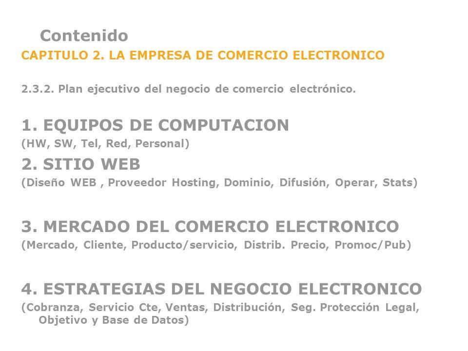 1. EQUIPOS DE COMPUTACION 2. SITIO WEB