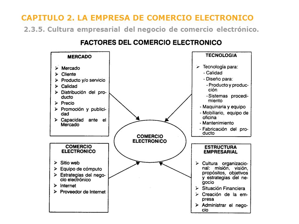 CAPITULO 2. LA EMPRESA DE COMERCIO ELECTRONICO