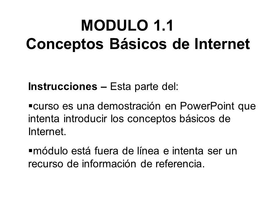 MODULO 1.1 Conceptos Básicos de Internet