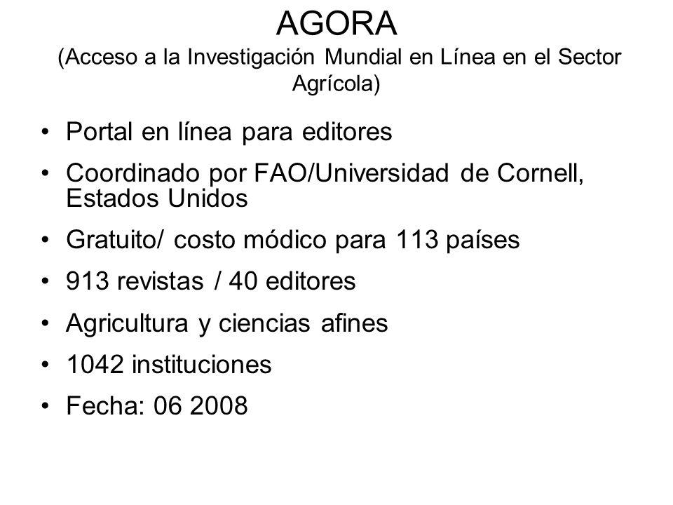AGORA (Acceso a la Investigación Mundial en Línea en el Sector Agrícola)