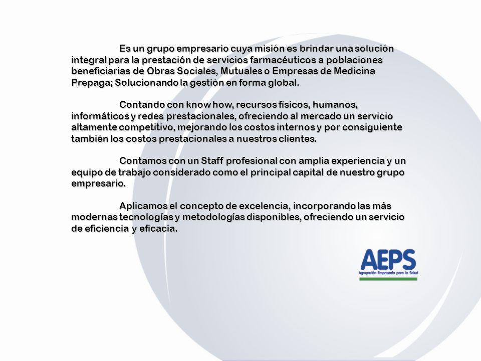 Es un grupo empresario cuya misión es brindar una solución integral para la prestación de servicios farmacéuticos a poblaciones beneficiarias de Obras Sociales, Mutuales o Empresas de Medicina Prepaga; Solucionando la gestión en forma global.