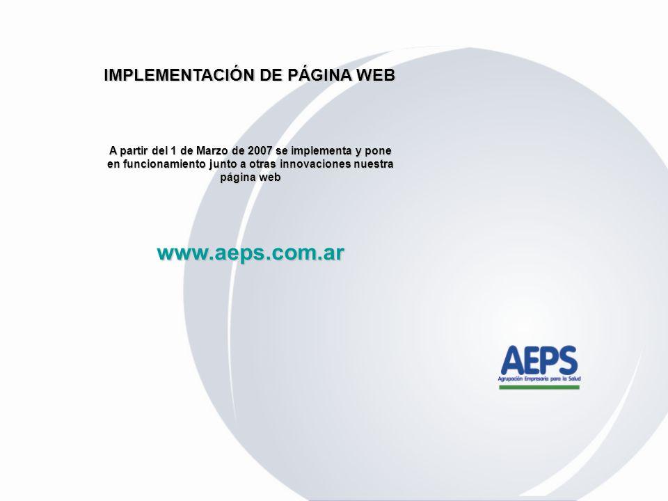 www.aeps.com.ar IMPLEMENTACIÓN DE PÁGINA WEB