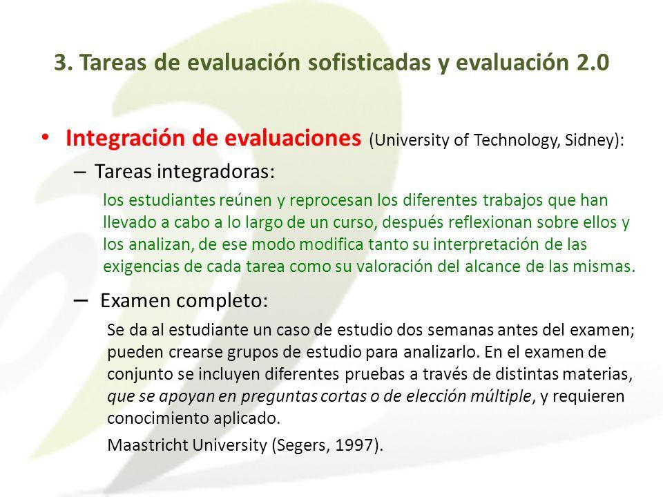 3. Tareas de evaluación sofisticadas y evaluación 2.0