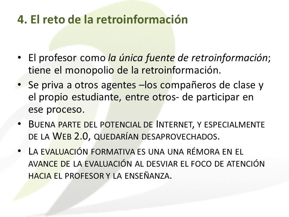 4. El reto de la retroinformación