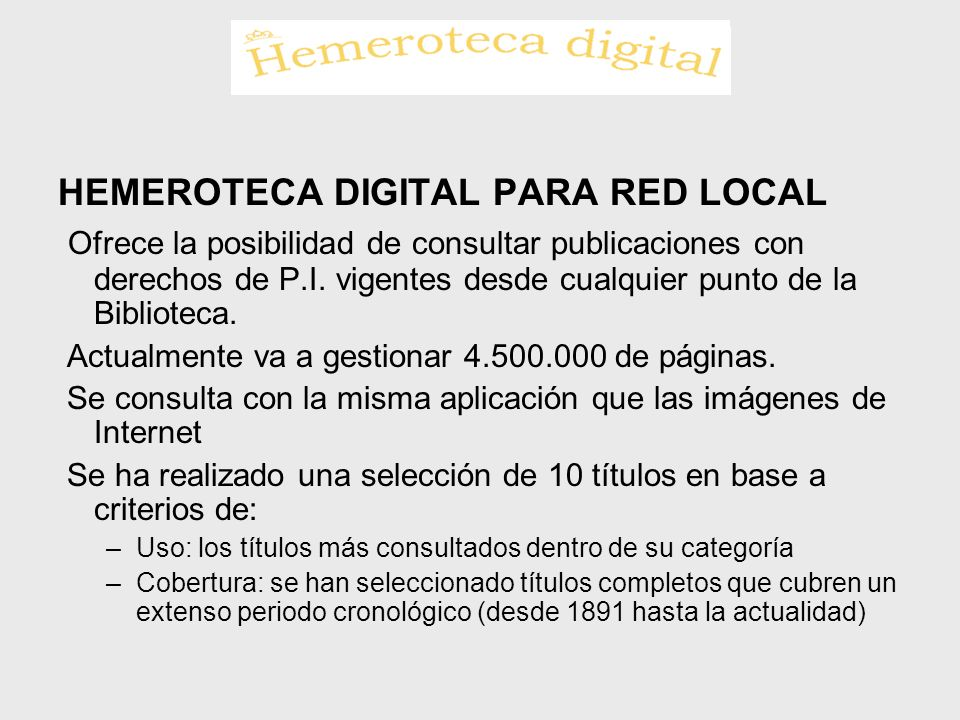 HEMEROTECA DIGITAL PARA RED LOCAL