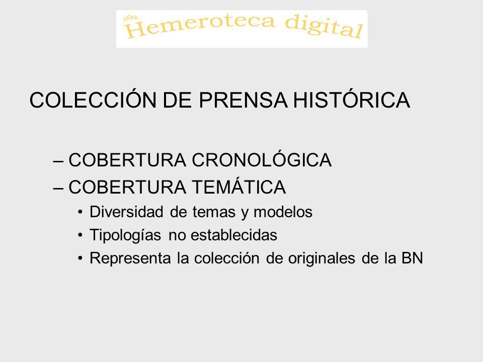 COLECCIÓN DE PRENSA HISTÓRICA