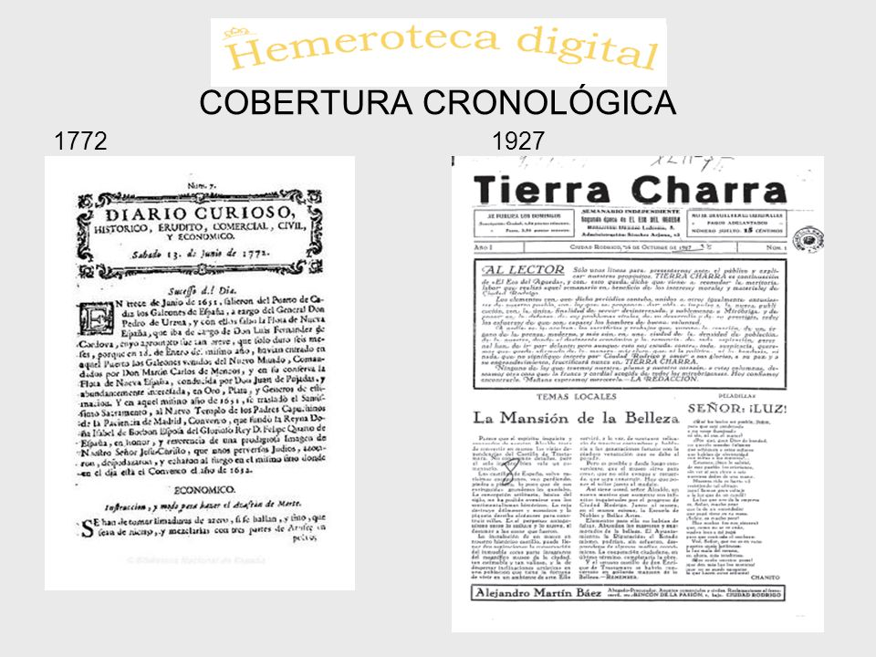 COBERTURA CRONOLÓGICA