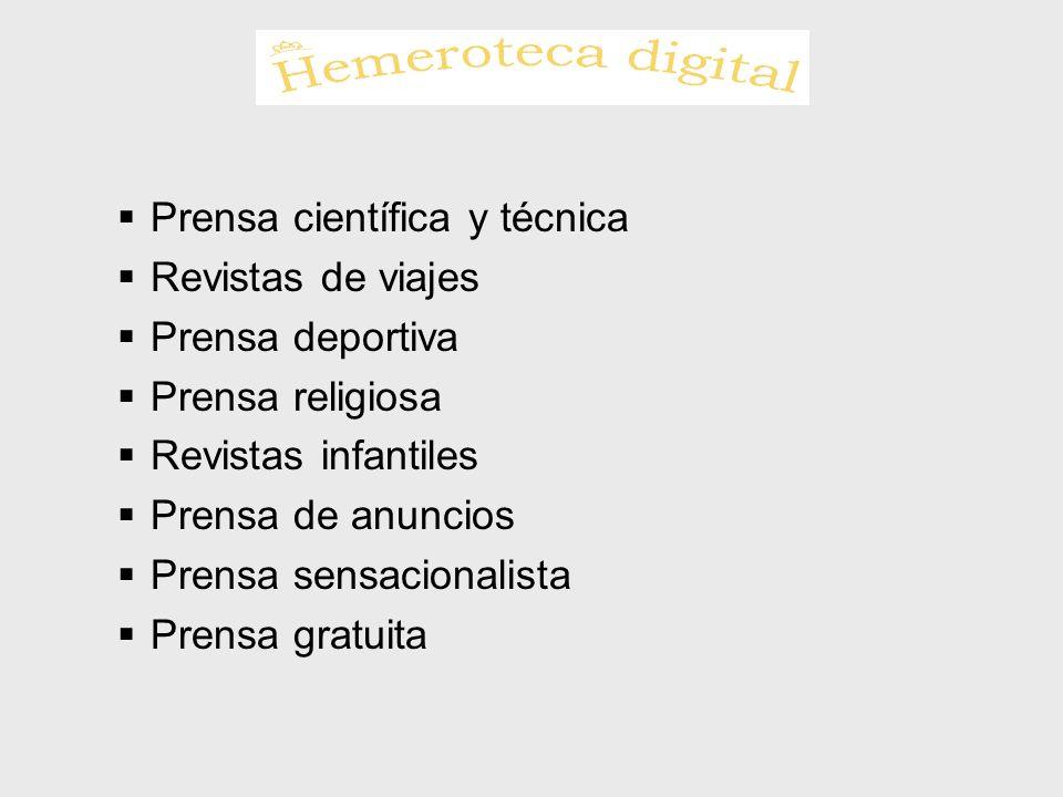 Prensa científica y técnica