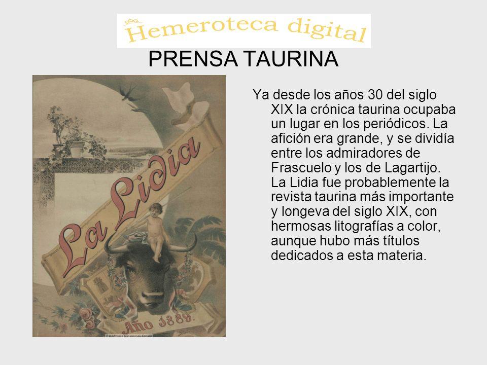 PRENSA TAURINA