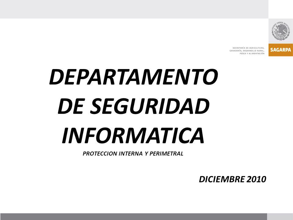 DEPARTAMENTO DE SEGURIDAD INFORMATICA PROTECCION INTERNA Y PERIMETRAL