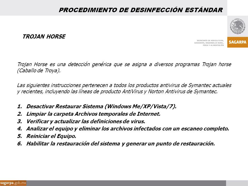 PROCEDIMIENTO DE DESINFECCIÓN ESTÁNDAR