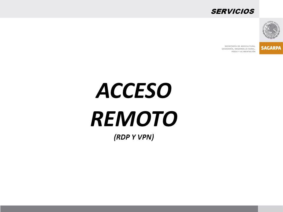 SERVICIOS ACCESO REMOTO (RDP Y VPN)