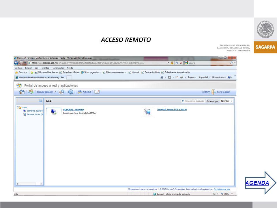 ACCESO REMOTO AGENDA