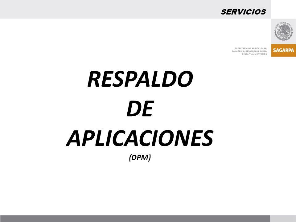 RESPALDO DE APLICACIONES
