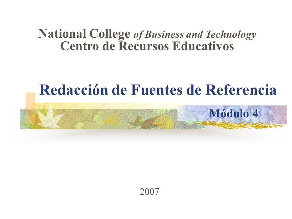 Redacción de Fuentes de Referencia