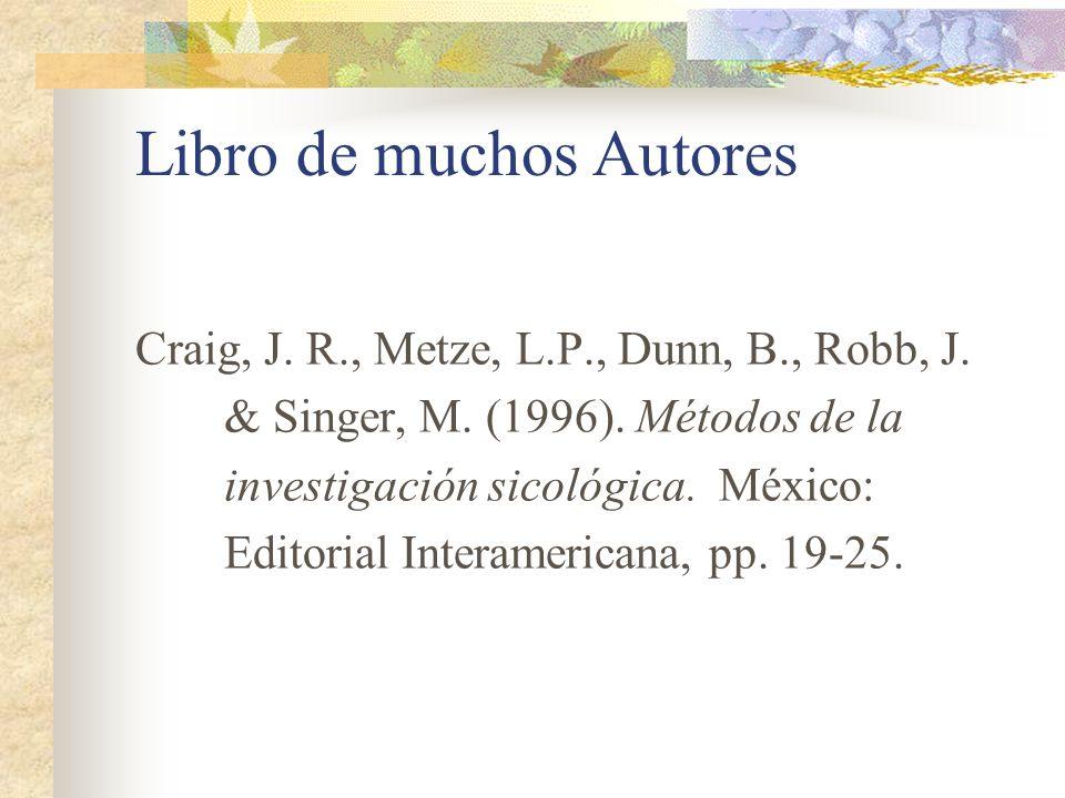 Libro de muchos Autores