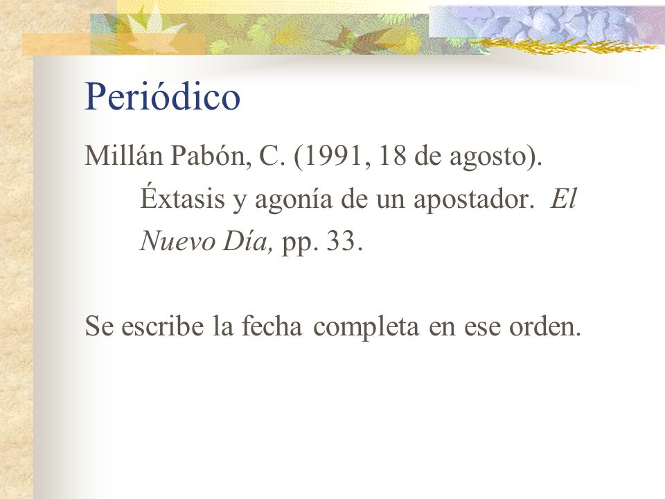 Periódico Millán Pabón, C. (1991, 18 de agosto).