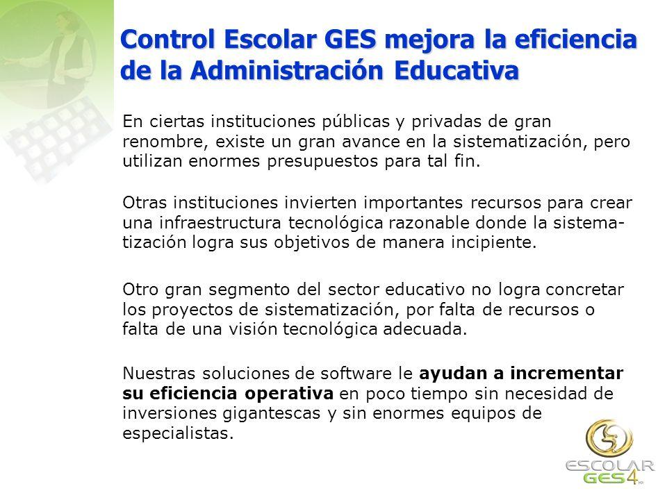 Control Escolar GES mejora la eficiencia de la Administración Educativa