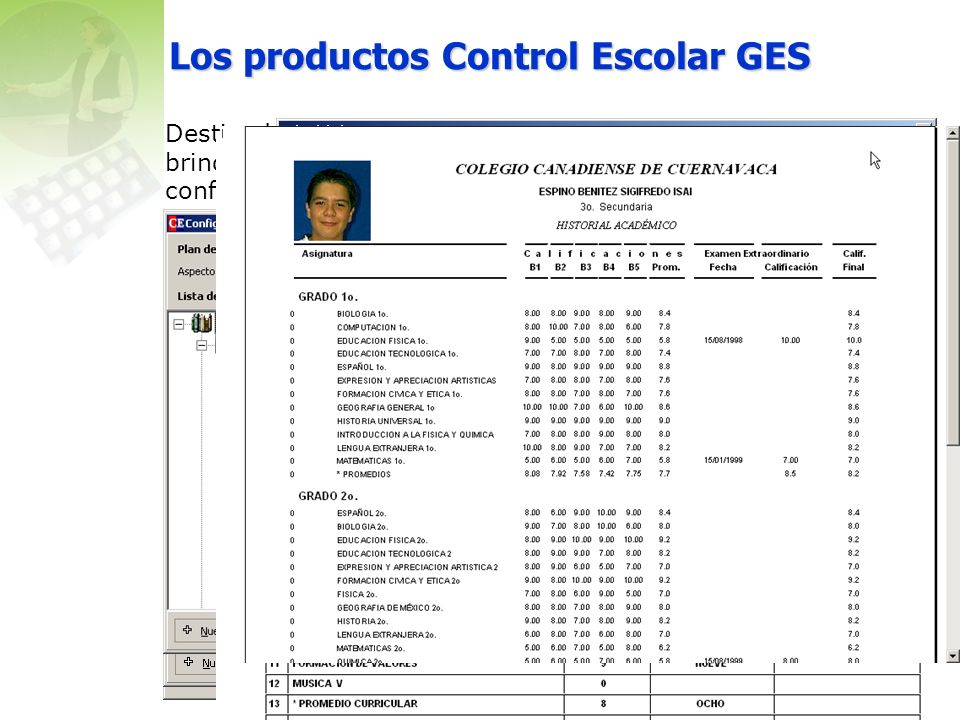 Los productos Control Escolar GES