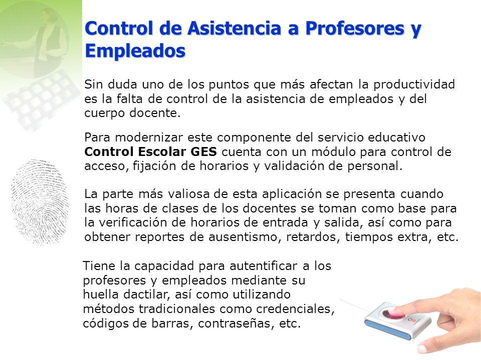 Control de Asistencia a Profesores y Empleados