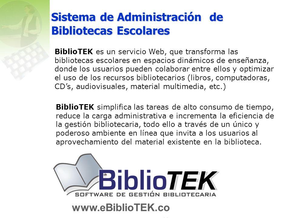 Sistema de Administración de Bibliotecas Escolares
