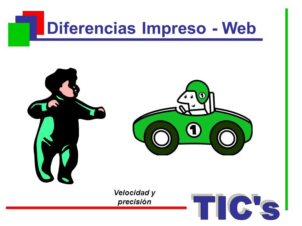 Diferencias Impreso - Web