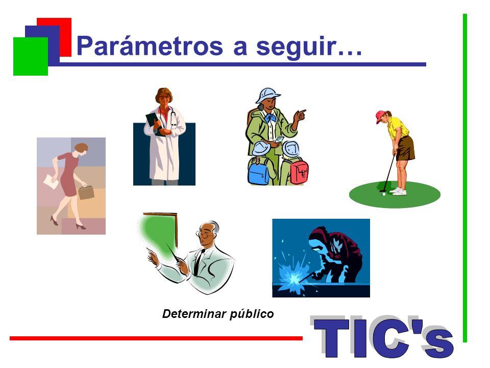 Parámetros a seguir… Determinar público TIC s