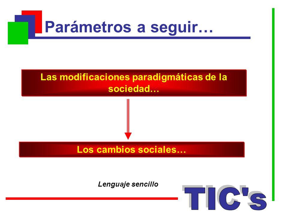 Las modificaciones paradigmáticas de la sociedad…