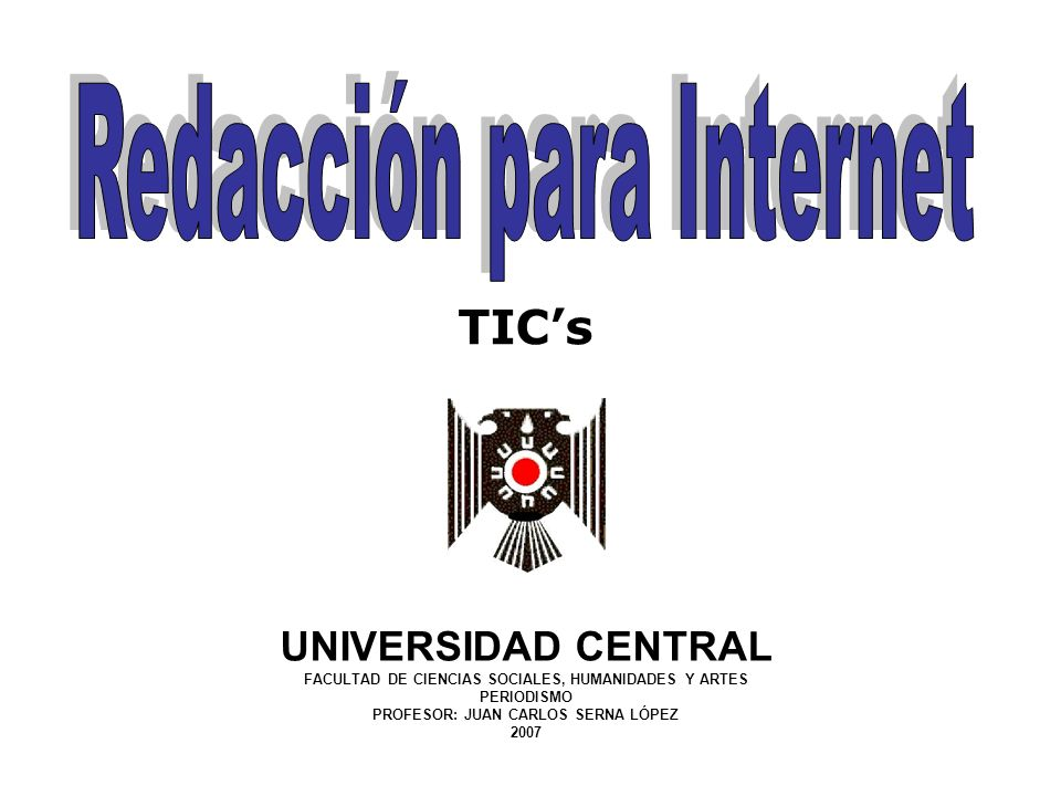 Redacción para Internet