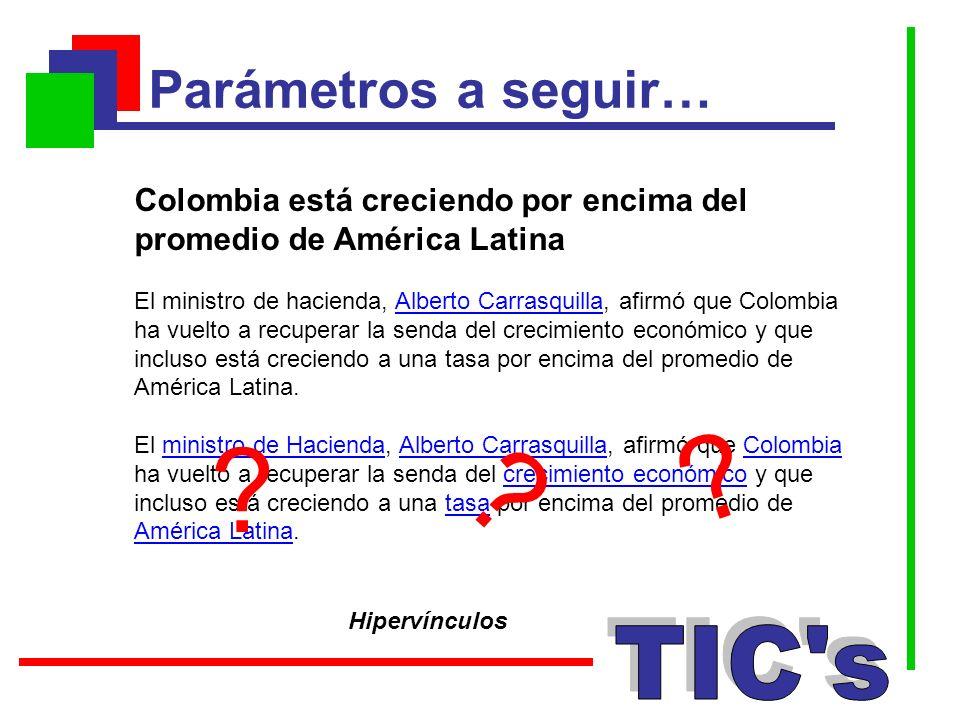 Parámetros a seguir… TIC s