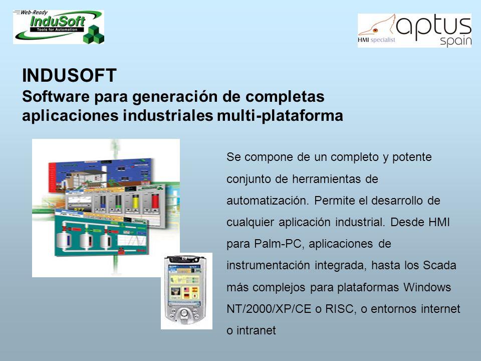 INDUSOFT Software para generación de completas aplicaciones industriales multi-plataforma