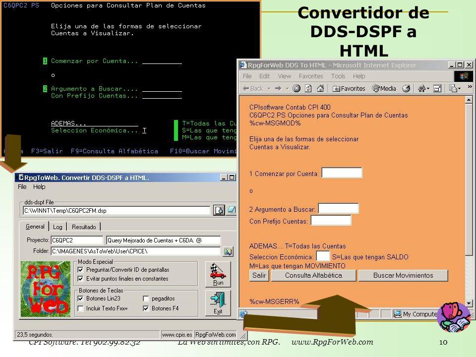 Convertidor de DDS-DSPF a HTML