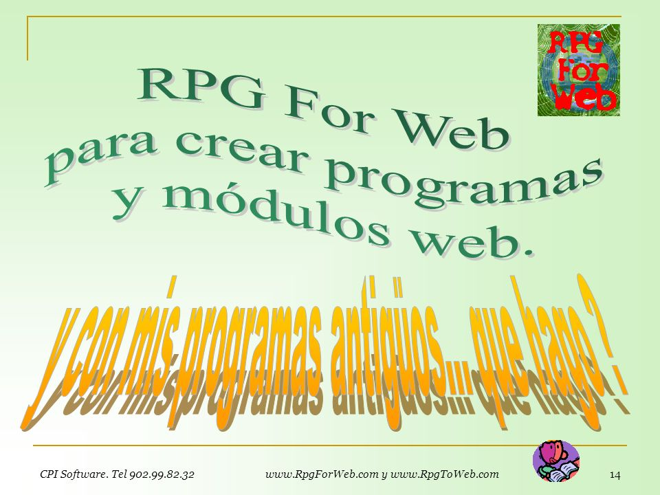 RPG For Web para crear programas y módulos web.