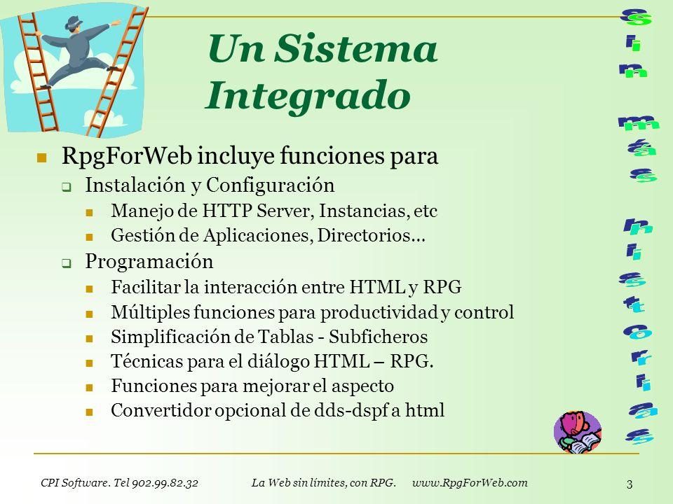 La Web sin límites, con RPG. www.RpgForWeb.com