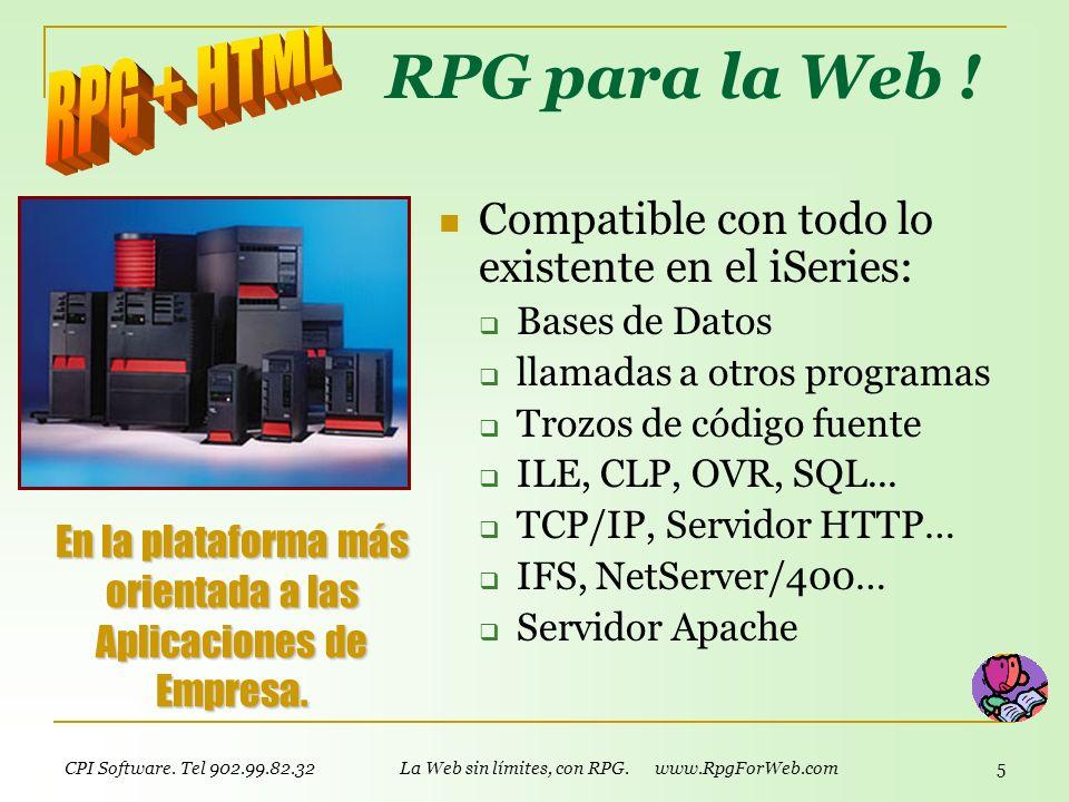 RPG para la Web ! RPG + HTML