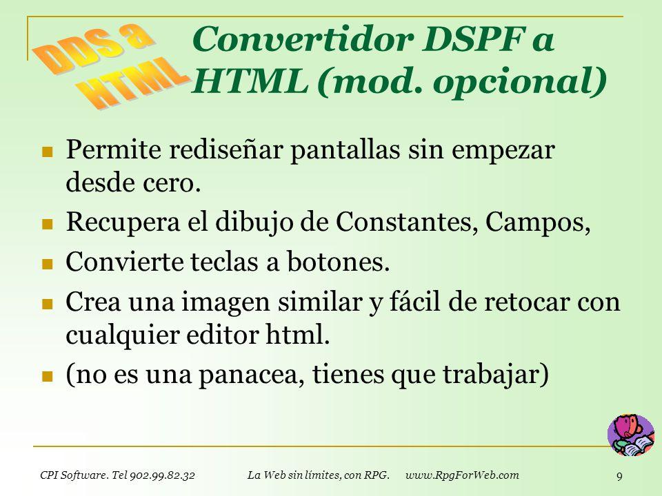 Convertidor DSPF a HTML (mod. opcional)