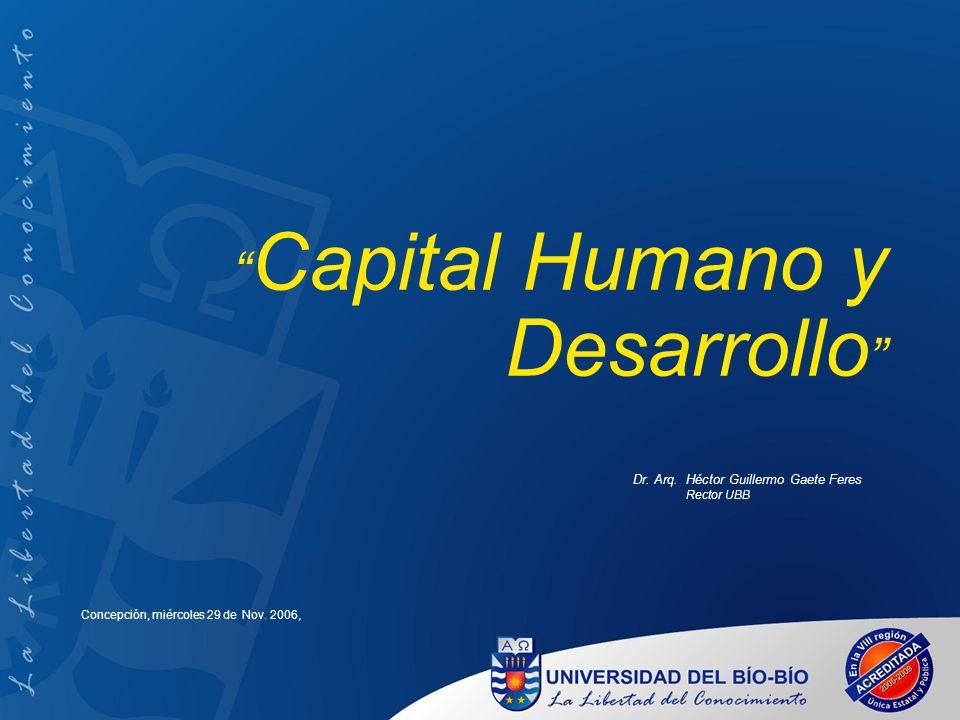 Capital Humano y Desarrollo