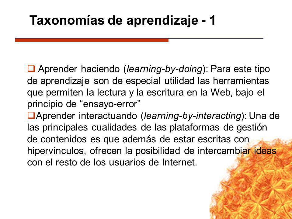 Taxonomías de aprendizaje - 1