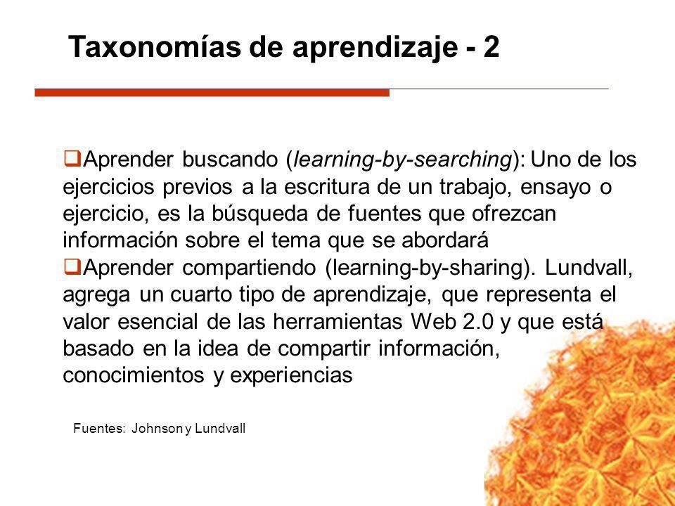 Taxonomías de aprendizaje - 2