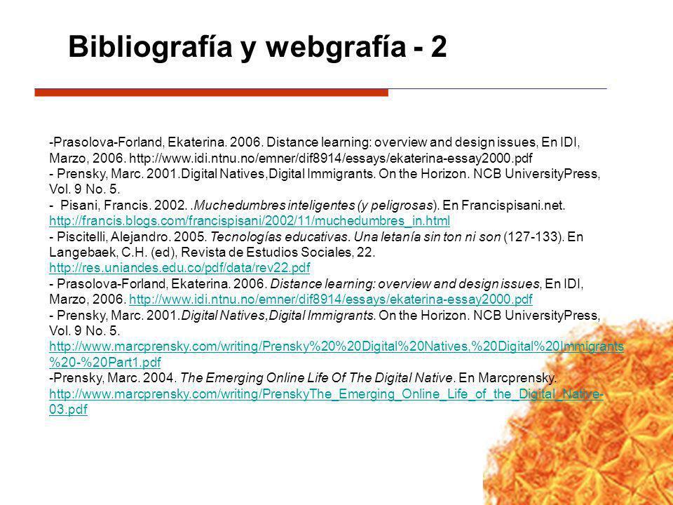 Bibliografía y webgrafía - 2