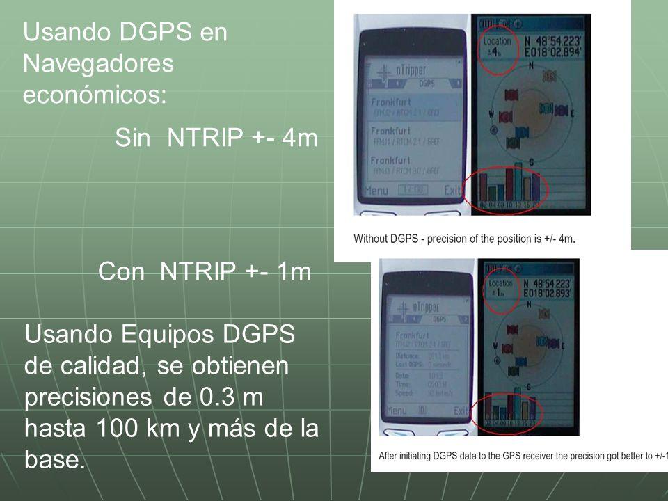 Usando DGPS en Navegadores económicos:
