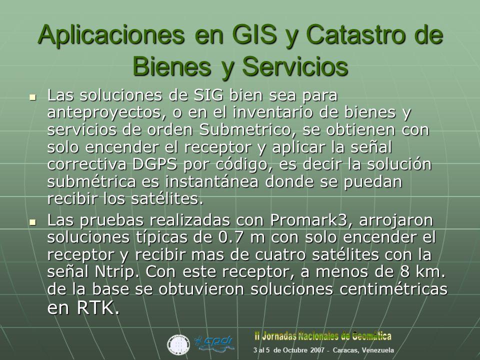Aplicaciones en GIS y Catastro de Bienes y Servicios