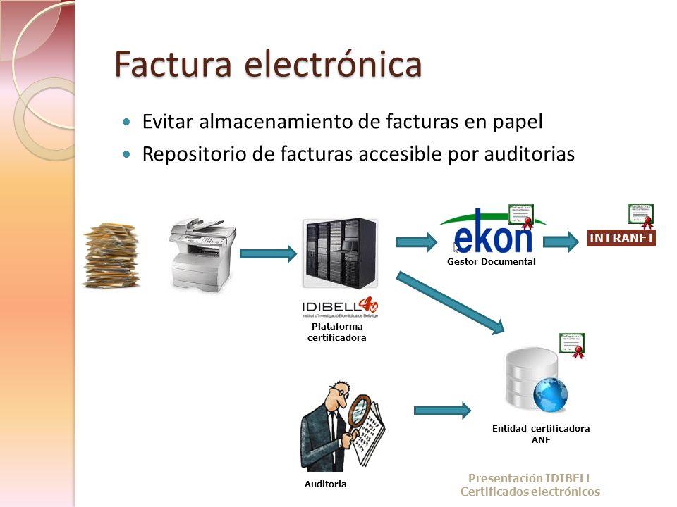 Factura electrónica Evitar almacenamiento de facturas en papel