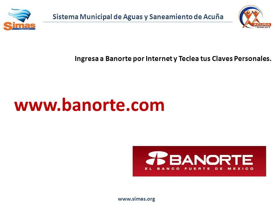 Ingresa a Banorte por Internet y Teclea tus Claves Personales.