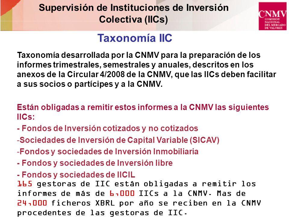 Supervisión de Instituciones de Inversión Colectiva (IICs)