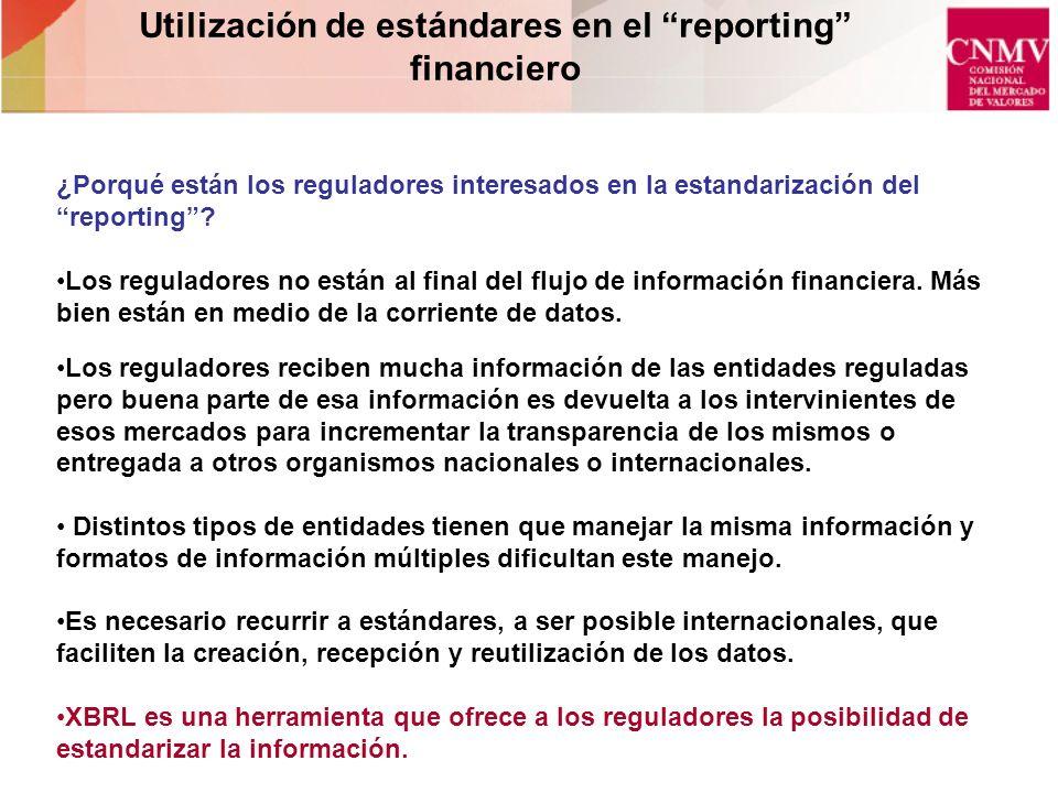 Utilización de estándares en el reporting financiero
