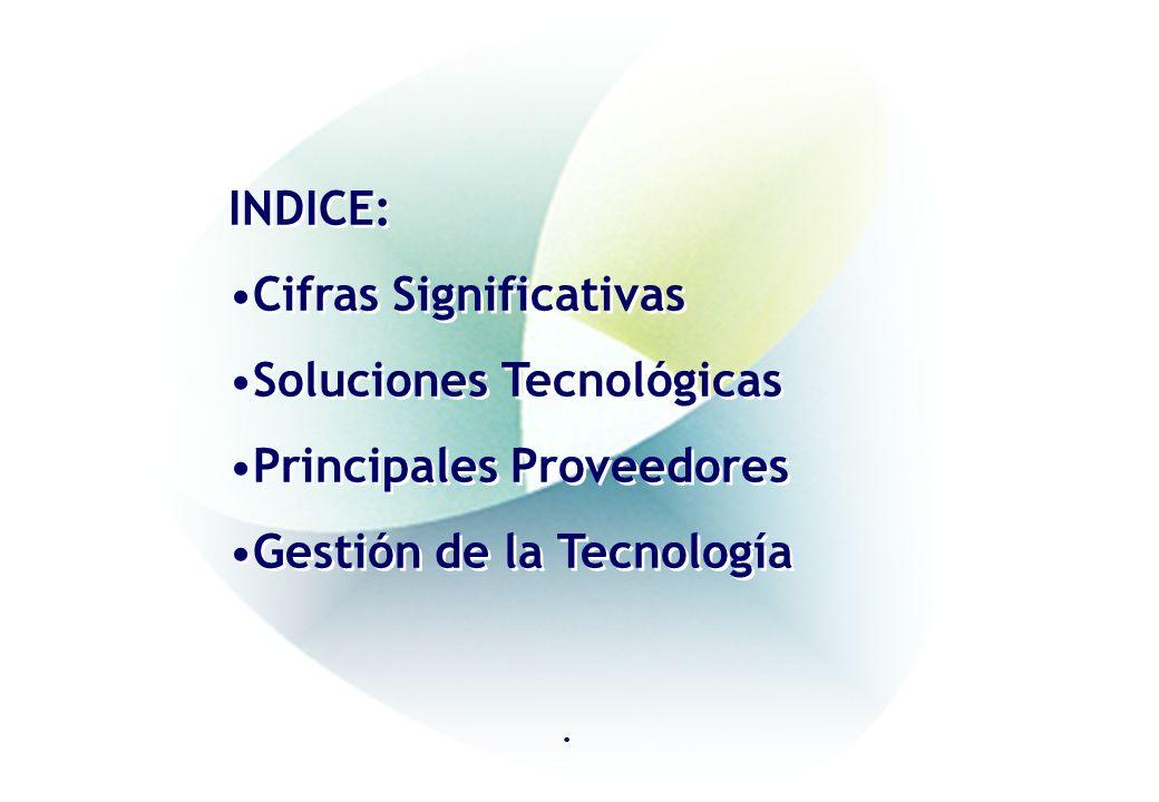 Cifras Significativas Soluciones Tecnológicas Principales Proveedores