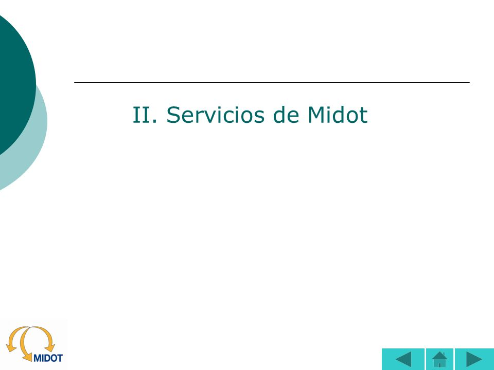 II. Servicios de Midot