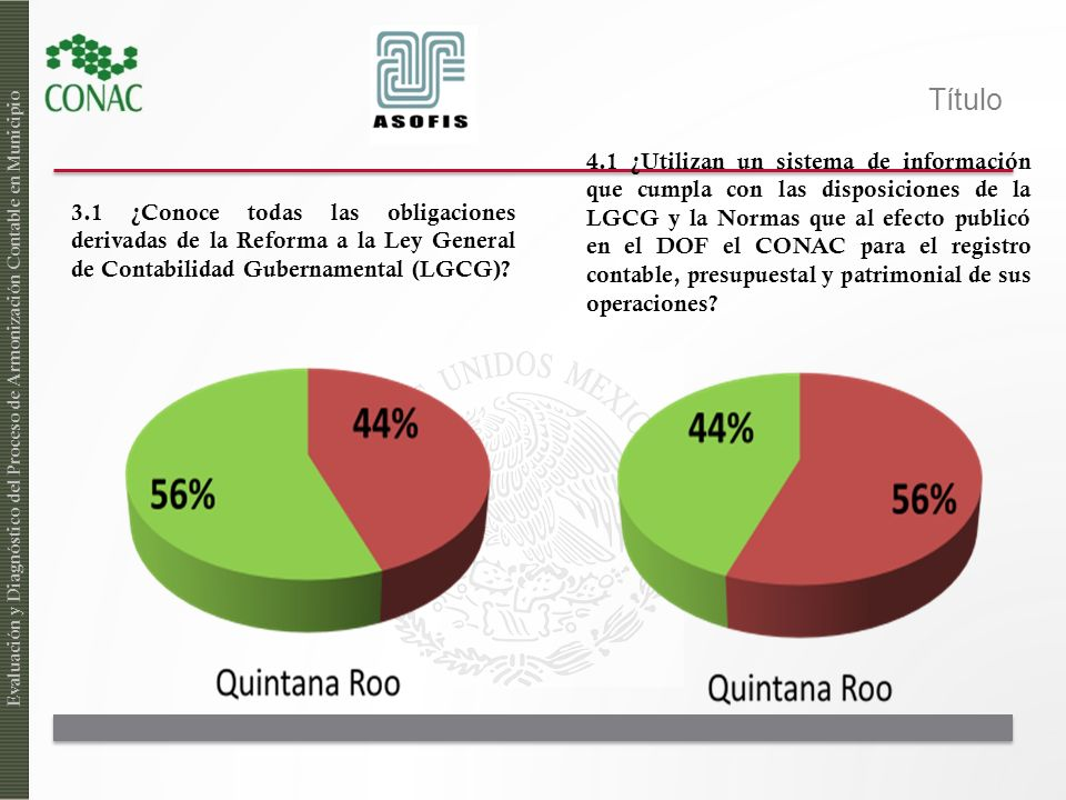 4.1 ¿Utilizan un sistema de información que cumpla con las disposiciones de la LGCG y la Normas que al efecto publicó en el DOF el CONAC para el registro contable, presupuestal y patrimonial de sus operaciones