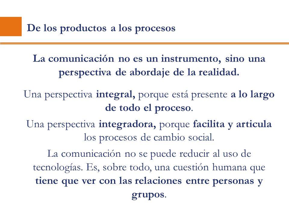 De los productos a los procesos